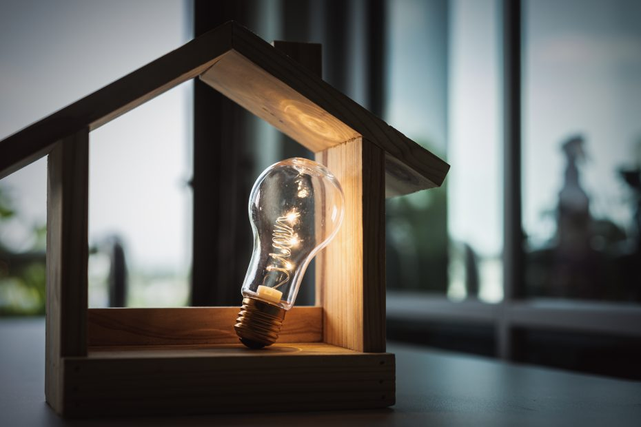 Haus kaufen Baufinanzierung Idee Konzept